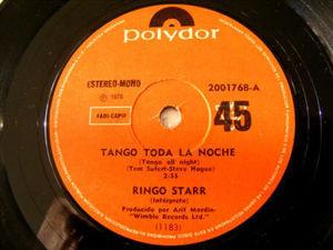 """7"""" R. STARR Polydor 2001768 ARG 45 TANGO TODA LA NOCHE"""