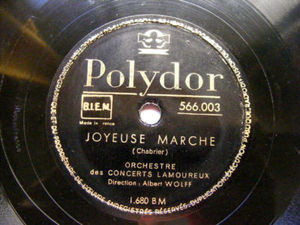 ALBERT WOLFF Polydor 566003 COND 78rpm BOUREE FANTASQUE