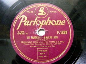 EDMUNDO ROS Parlophone 1863 LATIN 78 UN MOMENTO