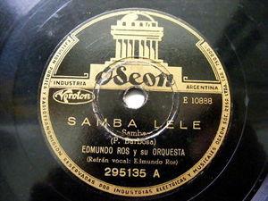 EDMUNDO ROS Odeon 295135 LATIN 78rpm SAMBA LELE