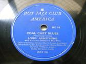 ARMSTRONG  & C. WILLIAMS HOT FIVE Hot Jazz Club JAZZ 78