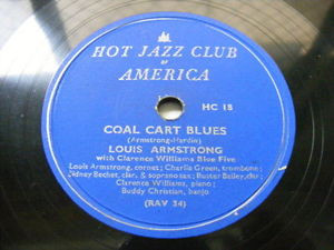 ARMSTRONG  & C. WILLIAMS HOT FIVE Hot Jazz Club JAZZ 78
