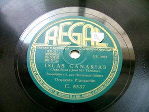 CARMEN GOMEZ & ORQ PLANTACION Regal 8537 LATIN 78 LOS GUANCHES / ISLAS CANARIAS