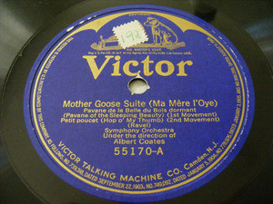 ALBERT COATES Victor 55170 78 RAVEL Mother Goose Suite
