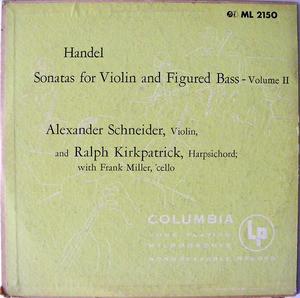 """SCHNEIDER & KIRKPATRICK Col LM-2149/50 HANDEL 2x10"""" LPs"""