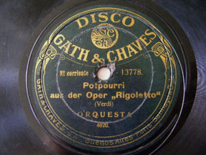 ORCH Rare Gath & Chaves 13778 78rpm PADERWKY Menuet 1