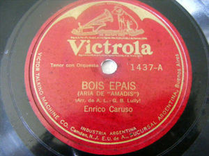 CARUSO Victrola 1437 OPERA 78 BOIS EPAIS/PREMIERE CARES