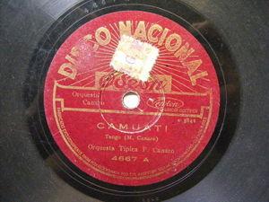 FRANCISCO CANARO Odeon 5148 TANGO 78 ALMA DE BOHEMIO / ORGANITO DE LA TARDE