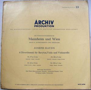 SCHWAMBERGER PITAMIC & LIESKE Archiv APM 14113 HAYDN LP