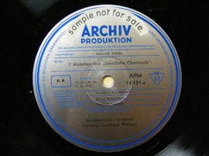 G. WOLTERS Archiv APM 14131 GERMAN BAROQUE LP Promo