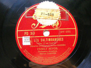 FANELY REVOIL Pathe PD30 OPERA 78rpm SALTIMBANQUES