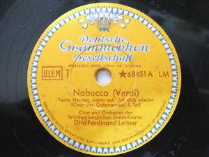 FERDINAND LEITNER & GEORG HANN dgg 68451 78 NABUCCO NM