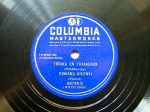 EDWARD KILENYI Columbia 69798 D PIANO 78rpm TROIKA