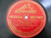 GLUCK & ZIMBALIST Victrola 87101 Sop+Violin 78 ELEGIE