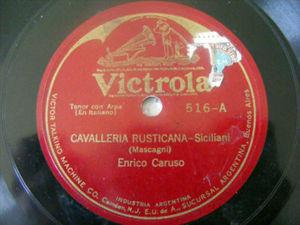 ENRICO CARUSO Victrola 516 OPERA 78 SICILIANI/ A CHENIE