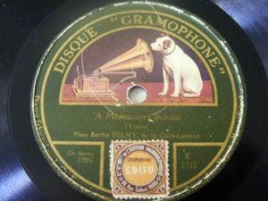 BERTHE DELNY GAite-Lyrique GRAMOPHONE 2212 78rpm