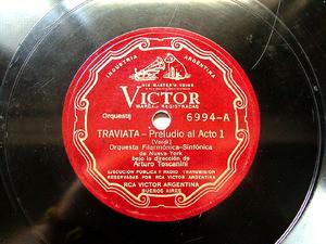 ARTURO TOSCANINI Arg Sscr VICTOR 6994 78rpm TRAVIATA
