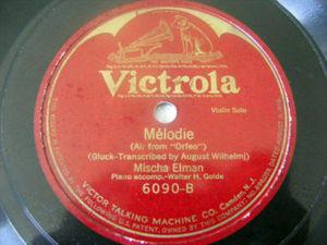 MISCHA ELMAN Victrola 6090 VIOLIN 78 MEISTERSINGER