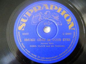 KAREL VLACH Supraphon 23457 ORCH 78rpm JEALOUSY/SMOKE G