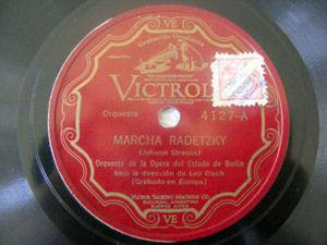 LEO BLECH Victrola 4127 78rpm MARCHA RADETZKY/PERPETUUM