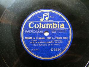 JOSEPH SZIGETI Columbia 1630 VIOLIN 78 ALLEGRO VIVACE