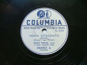 ISAAC STERN Arg COLUMBIA 292612 VIOLIN 78rpm HORA STACA