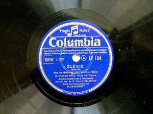 THILL ten KRABANSKY cello COLUMBIA 104 78rpm ?L?GIE
