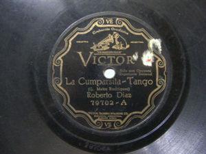 ROBERTO DIAZ Victor 79702 TANGO 78rpm LA CUMPARSITA