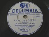 PIATIGORSKY Arg COLUMBIA 266573 CELLO 78rpm KOL NIDREI
