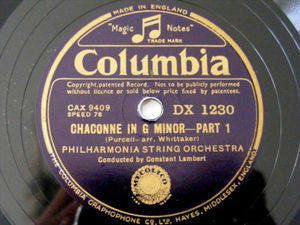 CONSTANT LAMBERT Columbia 1230 78 CHACONNE IN G MINOR