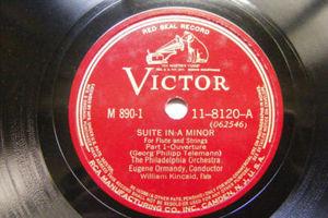 ORMANDY & KINCAD flute VICTROLA 8120 2x78 Set TELEMANN