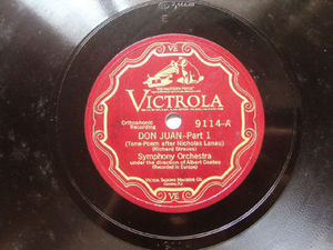ALBERT COATES Victrola 9114 2x78 Set DON JUAN