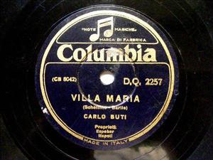 C. BUTI Columbia 2257 ITALIAN 78rpm TORNERA/VILLA MARIA
