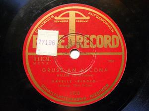 OTTO FUHRER & KAPELLE RIGOLO Elite 1920  78 GRUSS AN AS