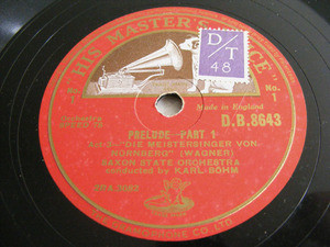 BOHM & SAXON STATE Orch HMV 8643 8x78rpm Set WAGNER