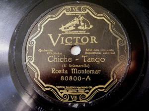 R. MONTEMAR Victor 80800 TANGO 78rpm CHICHE/COPACABANA