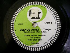 ANIBAL TROILO Tk 5098 TANGO 78rpm BUENOS AIRES / CONTRATIEMPO EX
