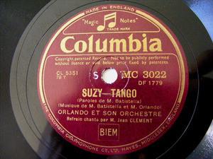 ORLANDO & ORCHESTRE Columbia MC 3022 TANGO 78rpm SUZY