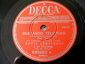 ARMSTRONG Arg DECCA 333682 JAZZ 78 BUSCANDO FELICIDAD