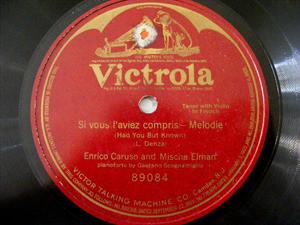 CARUSO & ELMAN Victrola 89084 OPERA 78rpm SI VOUS L'AVI