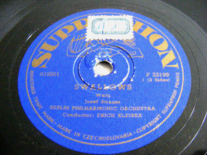 E. KLEIBER Supraphon F 22199 78rpm STRAUSS Swallows