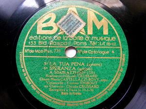 CASTELLAZZI-BOVY sop THIBOUT & CRUSSARD Bam 739 78rpm