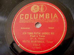 VOJTA MARTINEK Columbia 230 BOHEMIAN 78 PISNICKA CESKA