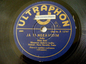 KAREL VACEK Ultraphon 12767 CZECH BRASS BAND 78 HEJPANI