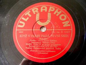 KAREL VLACH Ultraphon 12557 CZECH 78rpm ZPIVAM