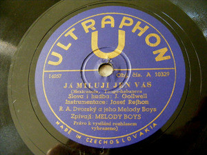 MELODY BOYS & VACEK Ultraphon 10329 CZECH 78rpm CIKANKA