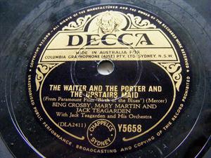 BING CROSBY & TEGARDEN Decca 5658 78rpm BIRTH OF BLUES