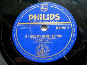 DORIS DAY & MELLOMEN Philips 21397 78rpm ANYONE CAN FAL