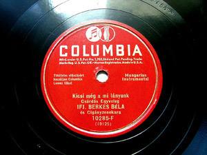 IFJ. BERKES BELA Columbia 10285 HUNGARIAN 78rpm