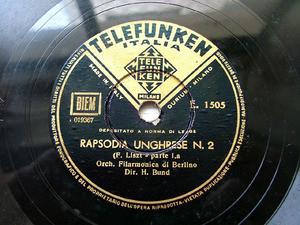BUND HANS cond Liszt TELEFUNKEN E-1505 12'' 78rpm